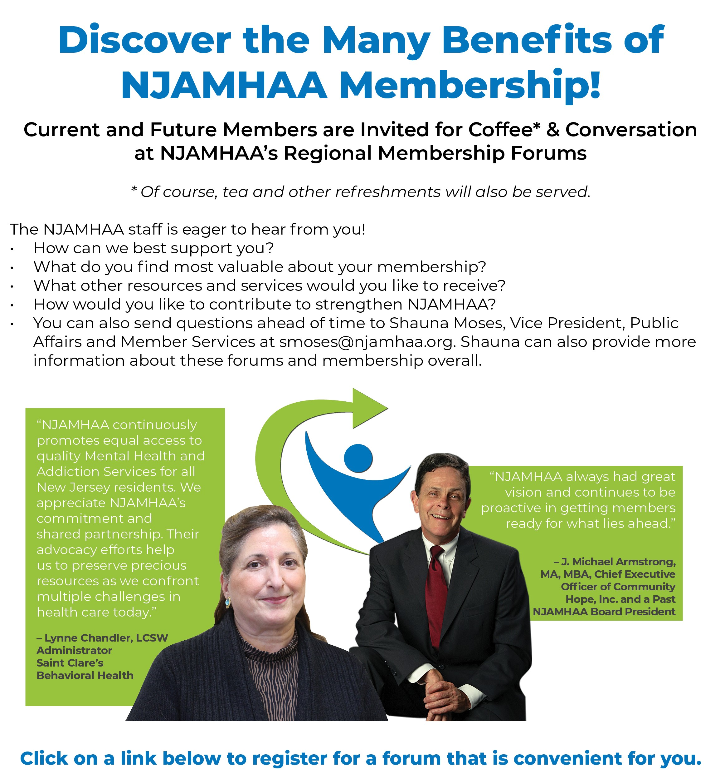 NJAMHAA Regional Membership Forums