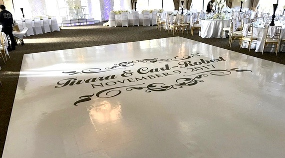 Wedding Floor Wrap 1
