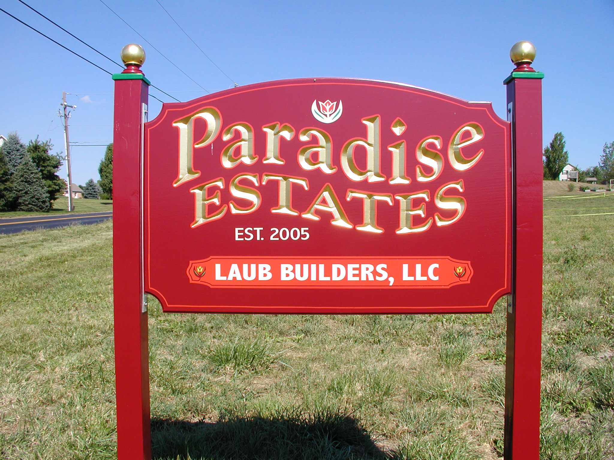 Paradise Estates Sign