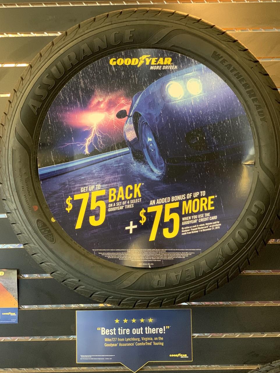 NEW Goodyear Tire Rebates: 10/1-12/31/2019