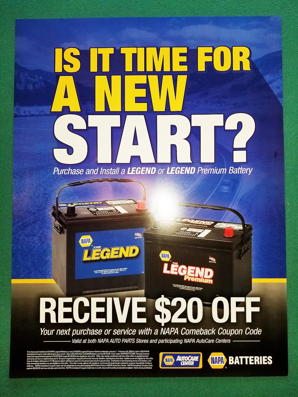 Is it time for a new start? Receive $20 off