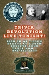 TRIVIA TONIGHT AT 7:30pm