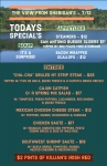 Sunday July 12th Specials