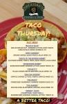 TACO THURSDAYS AT SHERIDAN'S - A BETTER TACO!