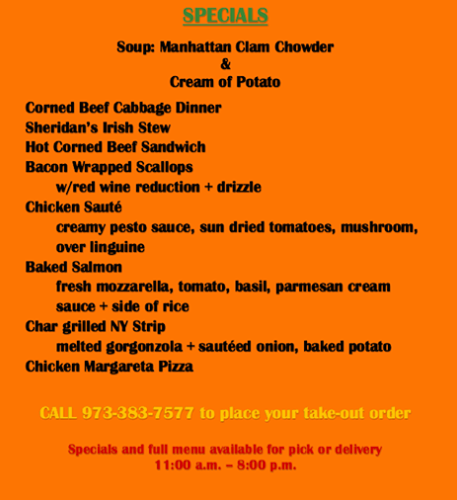 Sunday March 22nd Specials