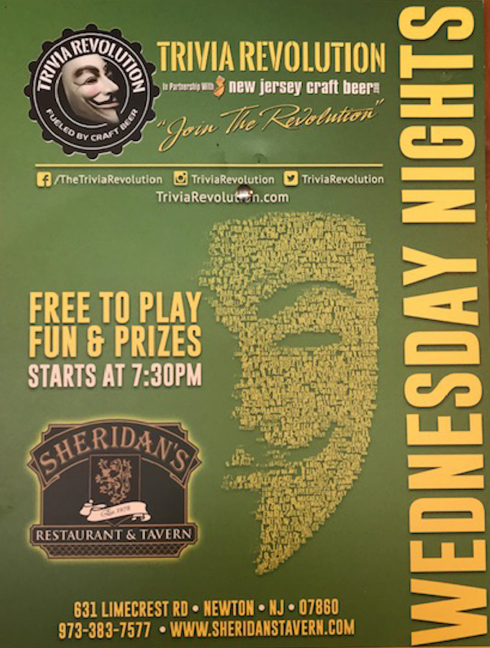 TRIVIA REVOLUTION TONIGHT AT SHERIDAN'S