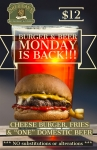 BURGER & BEER MONDAY IS BACK!