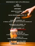Updated specials for Wednesday May 27th