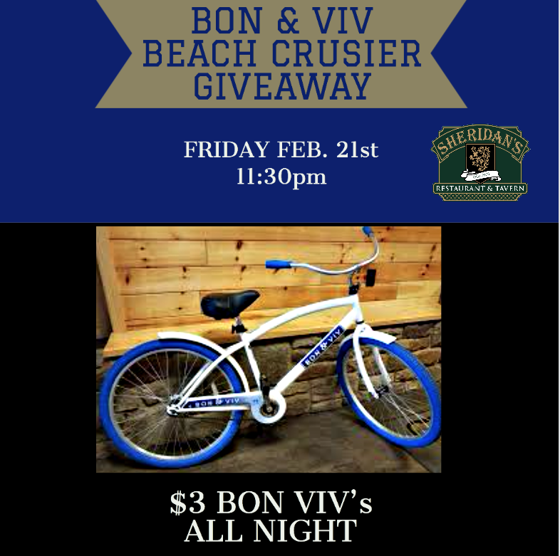 BON & VIV BEACH CRUISER GIVEAWAY