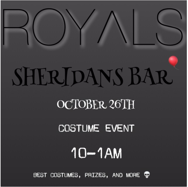 SHERIDAN'S HALLOWEEN PARTY - SATURDAY OCTOBER 26th