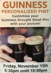 GUINNESS PERSONALIZED PINT NIGHT AT SHERIDANS