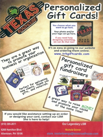 Free $5.00 Co- Branded Gift Cards from #Texas Roadhouse ...