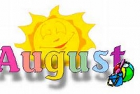 It's August!  Fun in the Sun days.