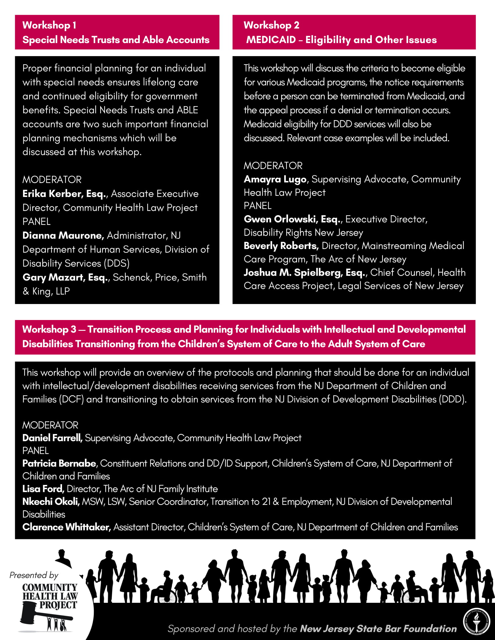 Law & Disability Conference brochure page 2