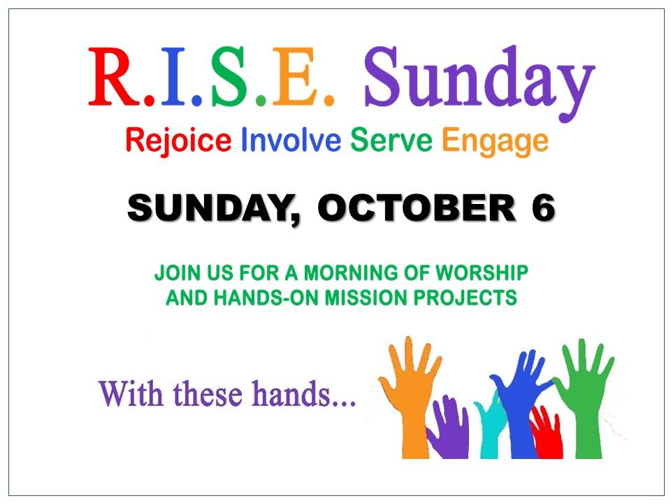 R.I.S.E. Sunday