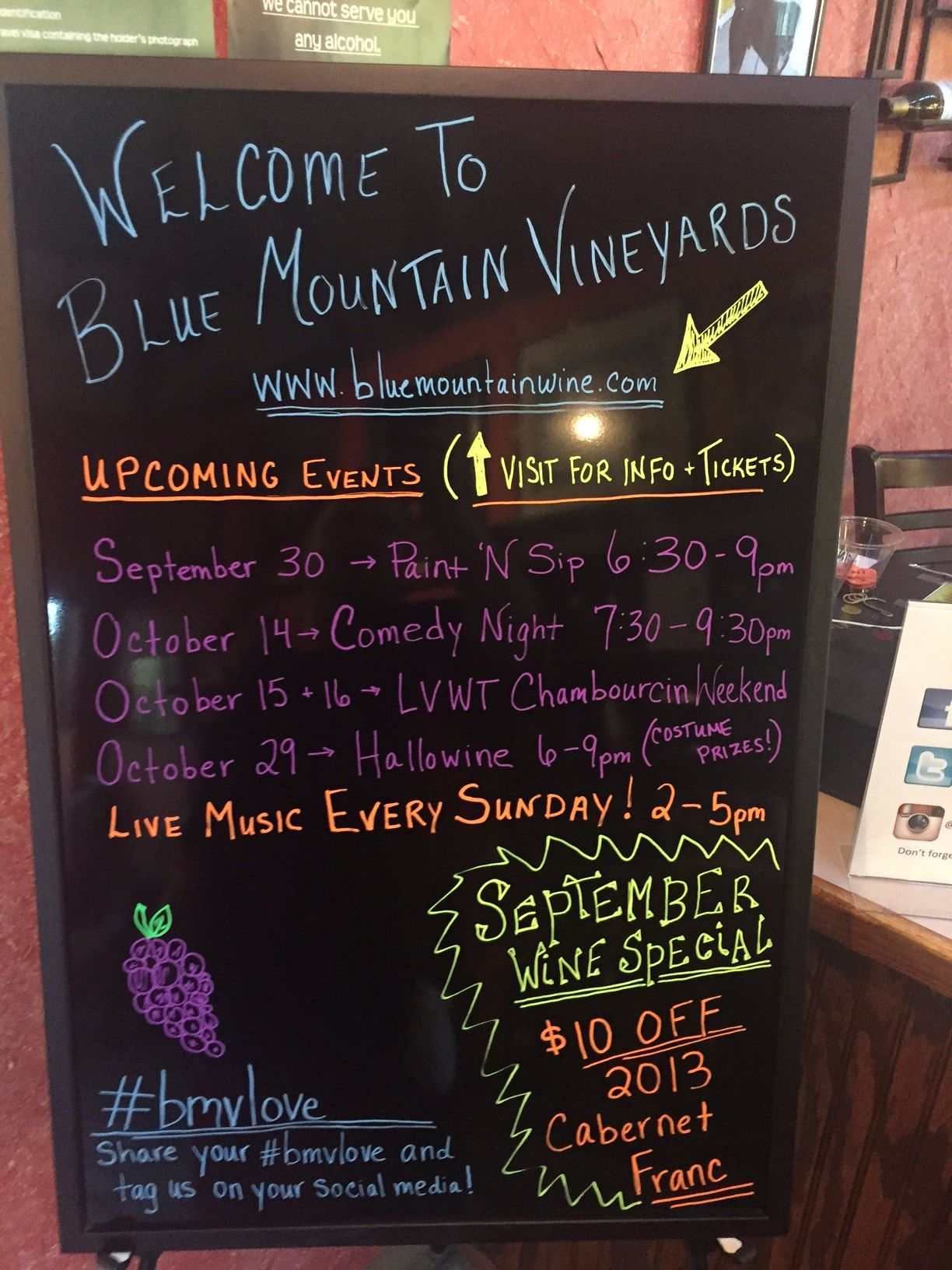 Blue Mountain Vineyard & Cellars Anniversary Party