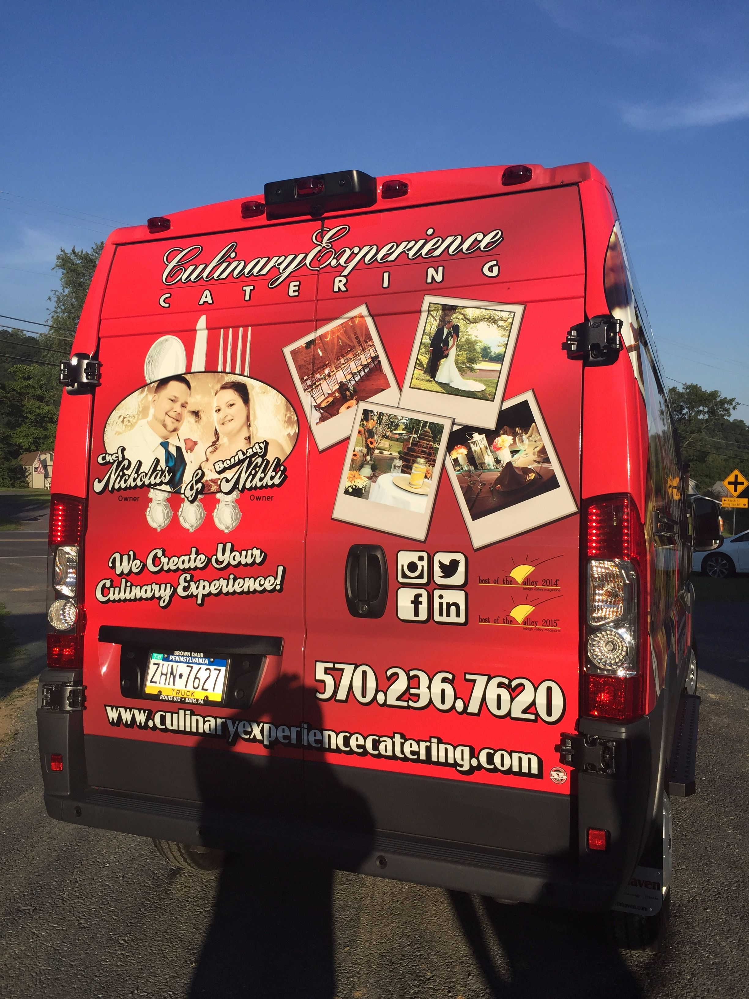 The Culinary Experience & Catering's New Van 2016 Dodge Promaster graphics done by  Scribbles & Drips -03