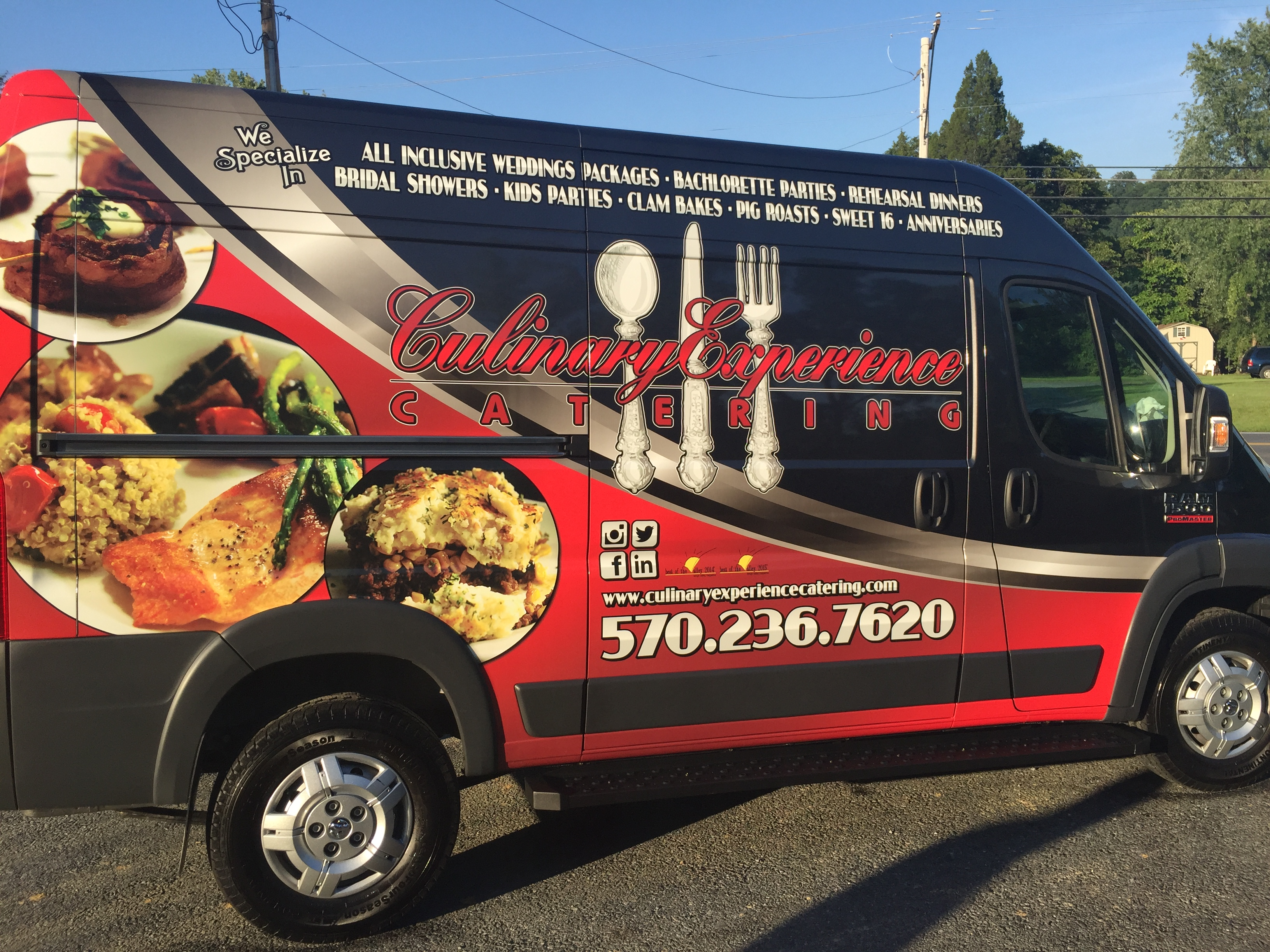 The Culinary Experience & Catering's New Van 2016 Dodge Promaster