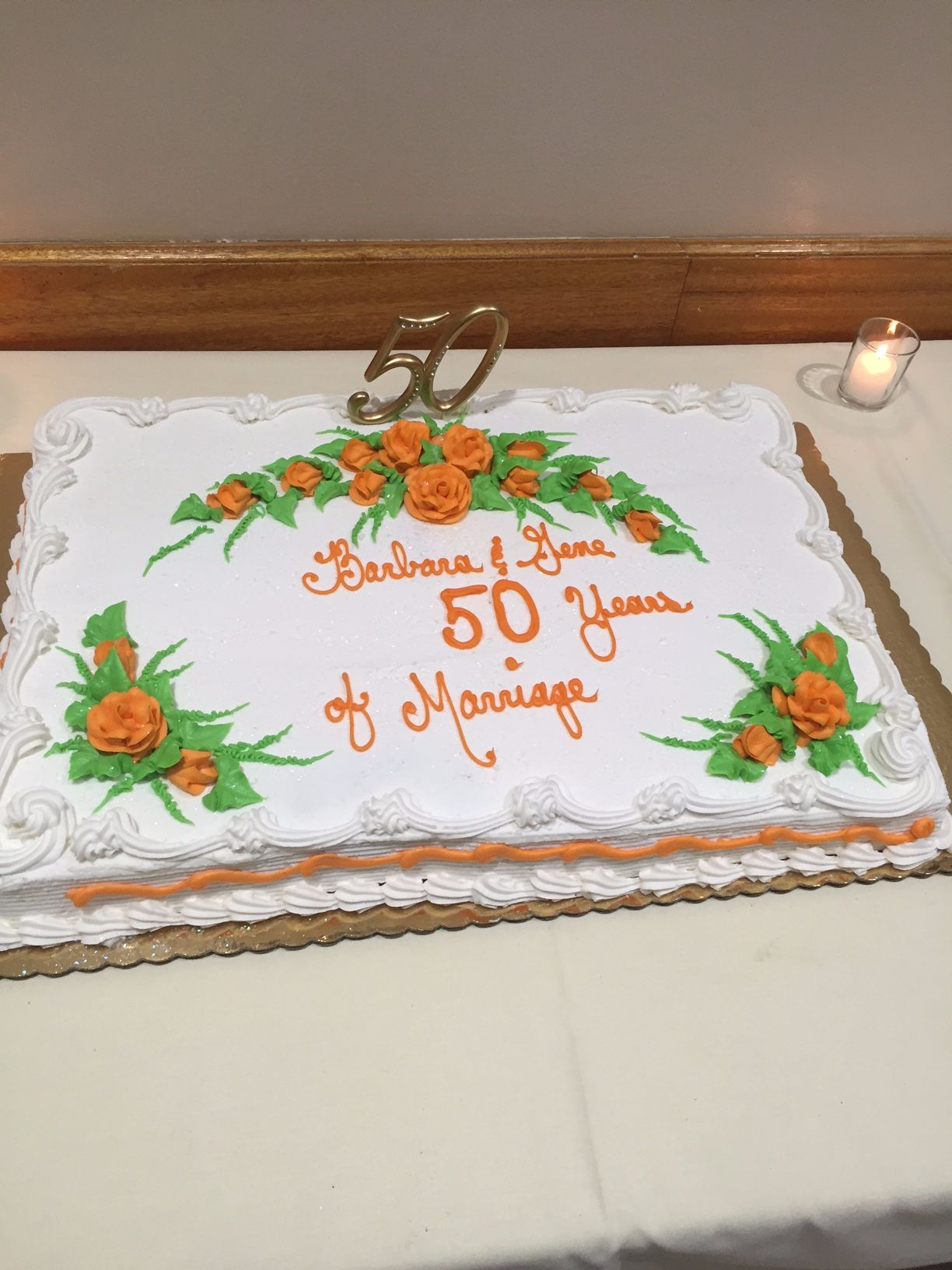 Anniversary Party Congratulations Barbara & Gene on 50 Years!