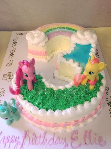 NUMBER 3 WITH MY LITTLE PONY CAKE KIT SUPPLIED BY CUSTOMER