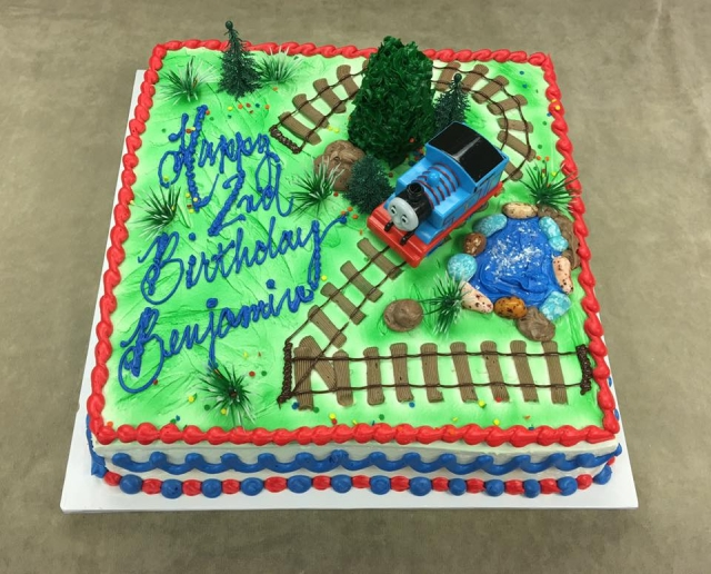 Previous NextThomas This One Was Supplied By Customer Number 2 Track On 10 Lb Square Boy Birthday FOX POUND CAKE