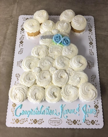 24c (2 dz) cupcake wedding dress
