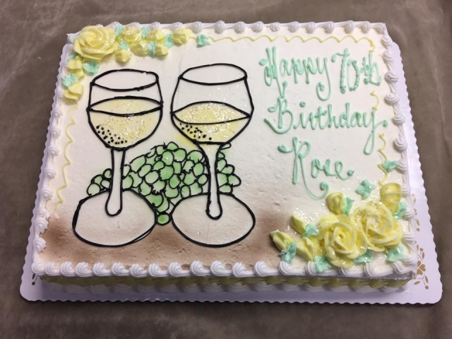 Previous NextWhite Wine And Grapes WOMANS BIRTHDAY CAKES