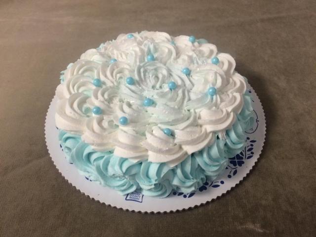 Rosette Smash Cake Single 7 Inch Cake Winter Themed