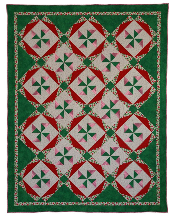 christmas candy quilt pattern by helle-may designs