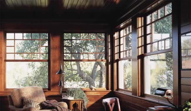 Woodwright double hung windows fox lumber for Mulled unit window
