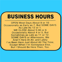 Business Hours Rolling Tire Shop