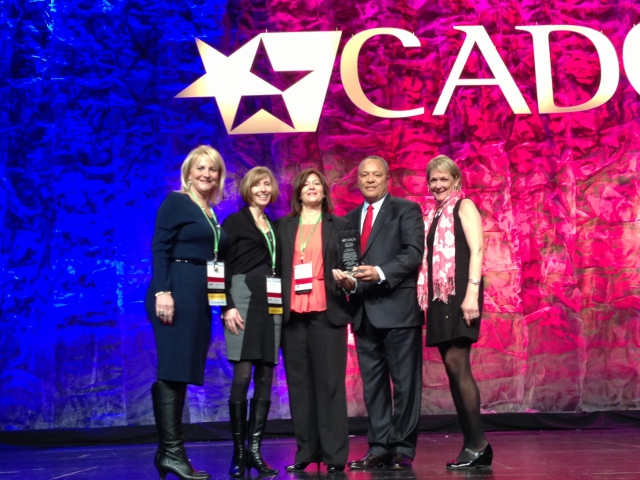Receiving GOT OUTCOMES Award at CADCA Conference, February 2013