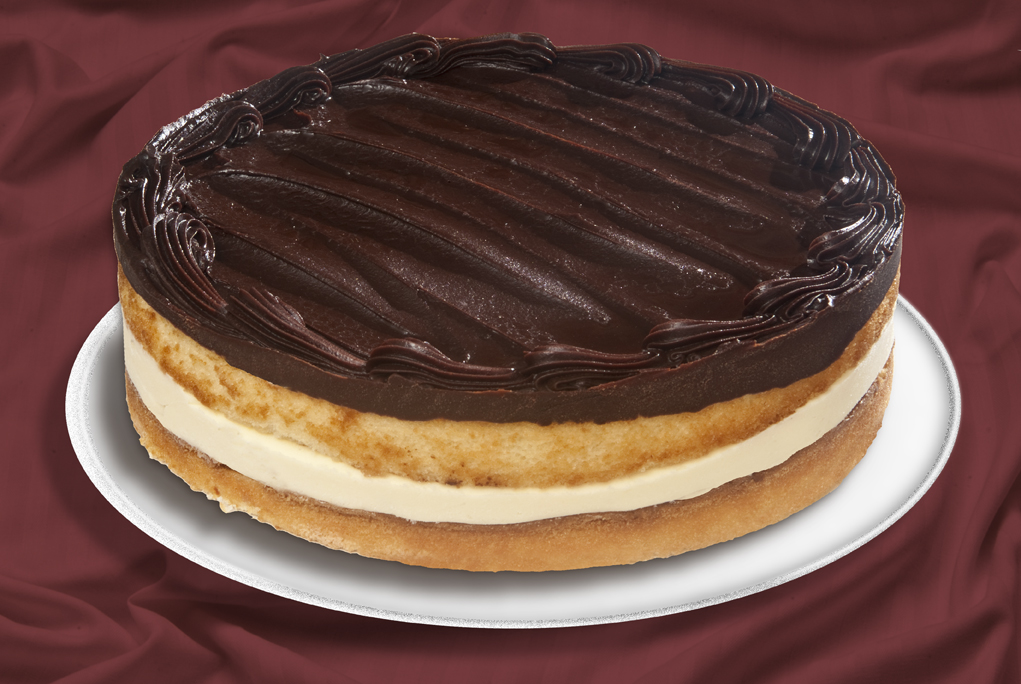 Cake With Chocolate Custard : chocolate cake with custard filling