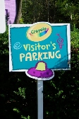 Crayola, Parking Sign, Custom Sign, Valley Wide Signs, Easton Sign