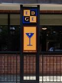 Edge Restaurant, Bethlehem Restaurant, Custom Sign, Push Through Letter Sign, Valley Wide Signs, Bethlehem Restaurant