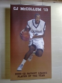 Banner, Interior Banner, Lehigh University Basketball, C.J. McCollum, Valley Wide Signs
