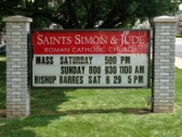 Light Box, Saints Simon & Jude, Lehigh Valley Signs, Valley Wide Signs