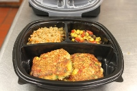 Heart Healthy Roasted Corn Crab Cake with Quinoa, Carrots, and Roasted Corn