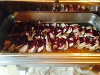 Pork Tenderloin Lathered in a Cherry Compote