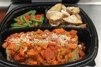 Heart Healthy Italian Meatloaf with Roasted Herb Parmesan Potatoes and Vegetable Quinoa