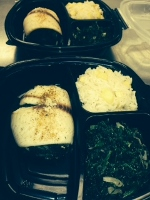 spinach Stuffed Tilapia Accompanied by Mango Ginger Jasmin Rice