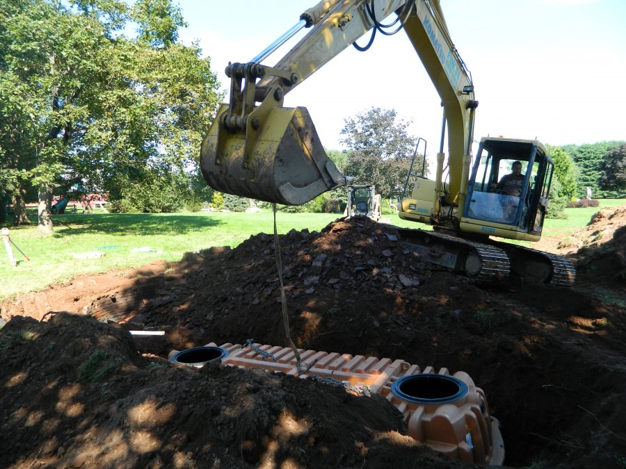 new septic tank installation