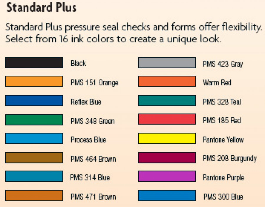 mailing solutions color options