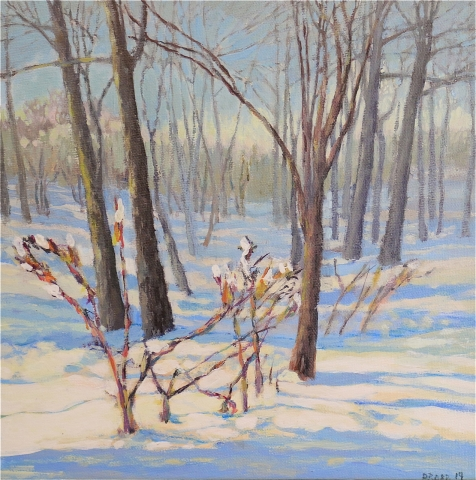 Tbt Morning Light In Snowy Woods By Premier Painter Don Robb
