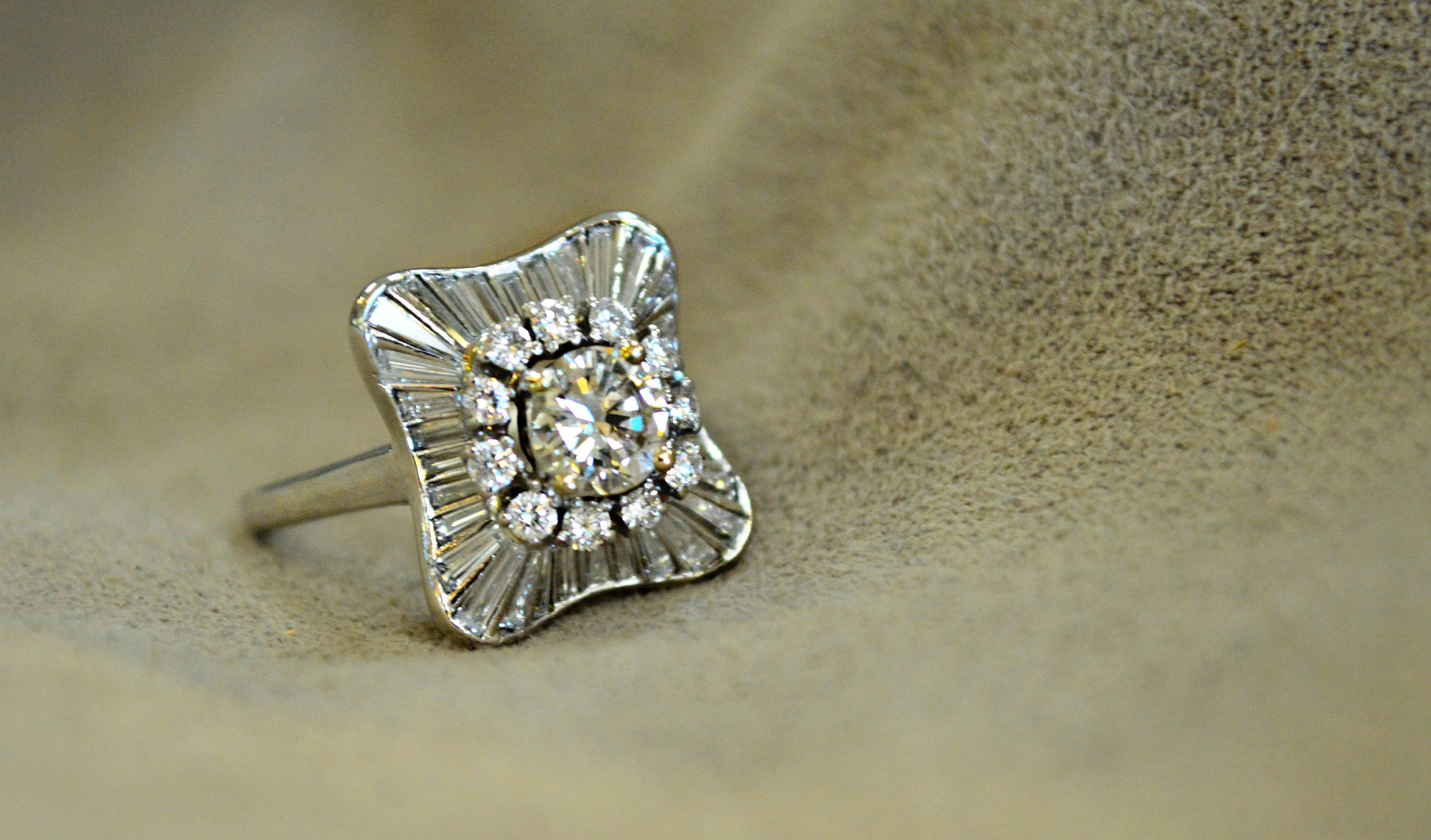 Antique Ballerina Diamond Ring