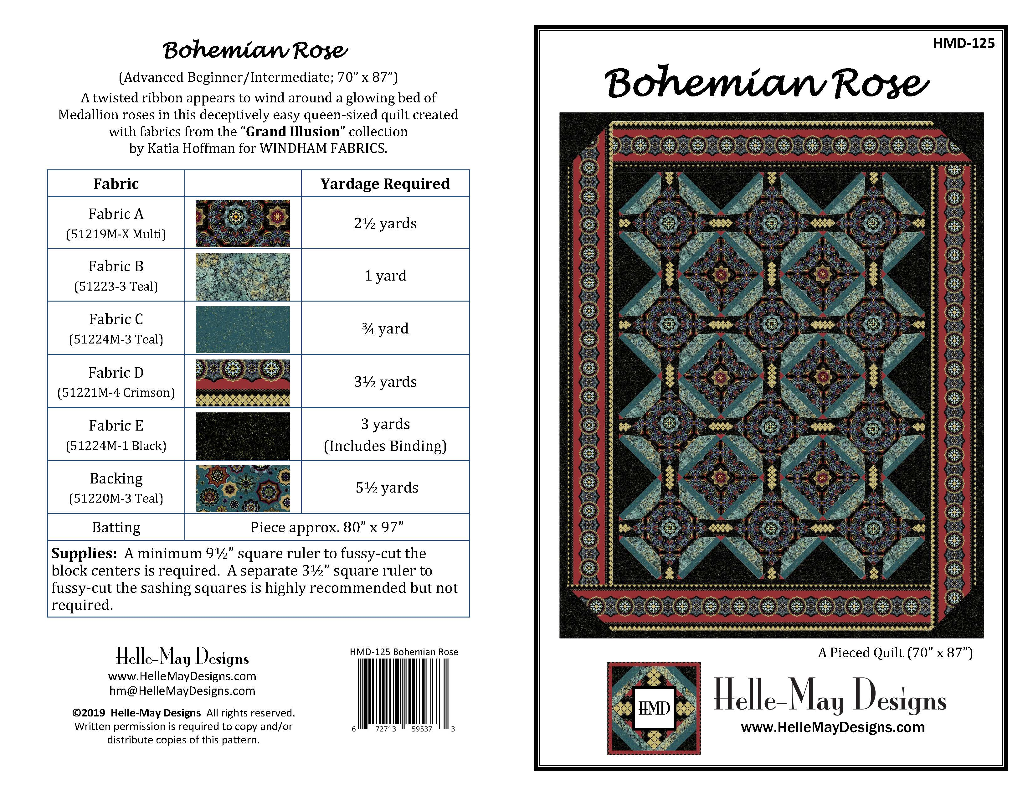 BOHEMIAN ROSE by Helle-May Designson the