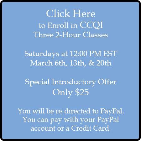 CCQI Classes - Saturdays