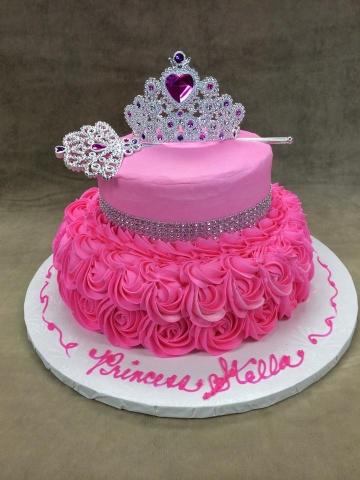 Pinks Rinestone Ribbon Queen Crown Scepter Set 14213