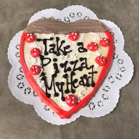 Strange Take A Pizza My Heart Iced Sugar Cookie Funny Birthday Cards Online Drosicarndamsfinfo