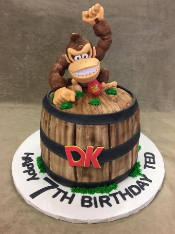 Enjoyable Donkey Kong Barrel 6Lb Serves 24 30 Customer Supplied Kong Funny Birthday Cards Online Amentibdeldamsfinfo